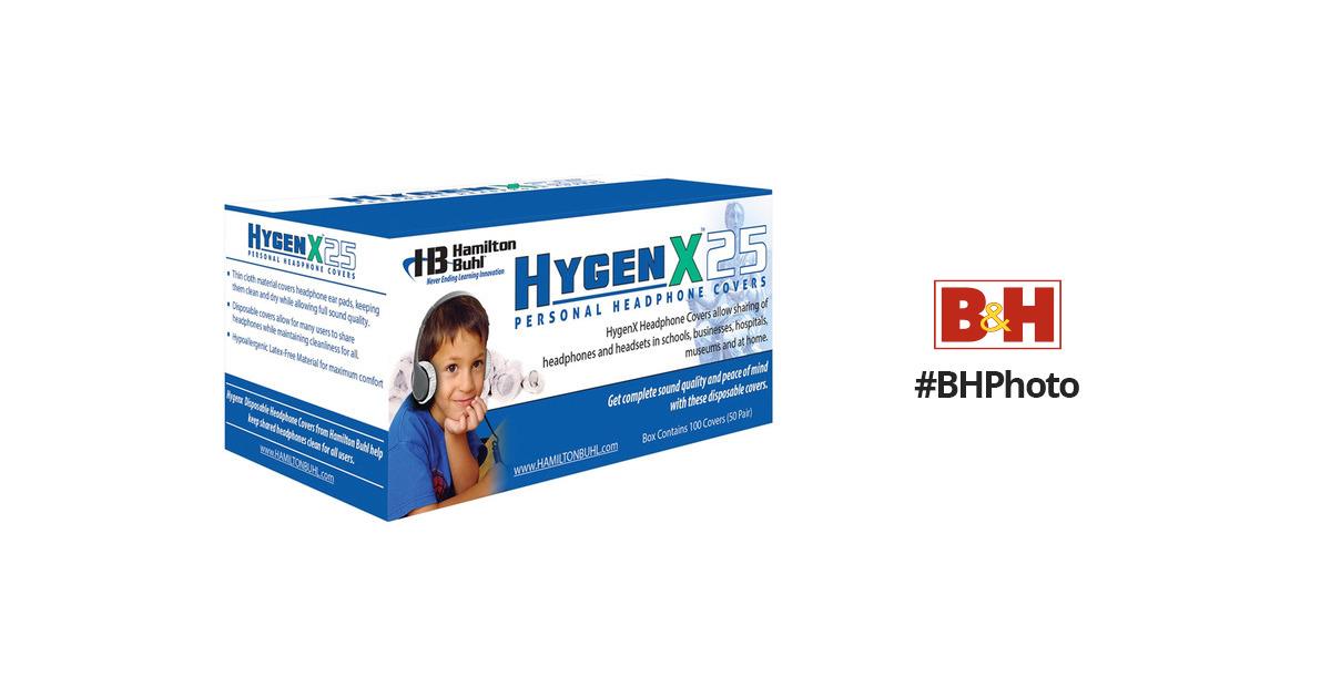 Hamiltonbuhl Hygenx 25 Disposable Sanitary Ear Hygenx25bk