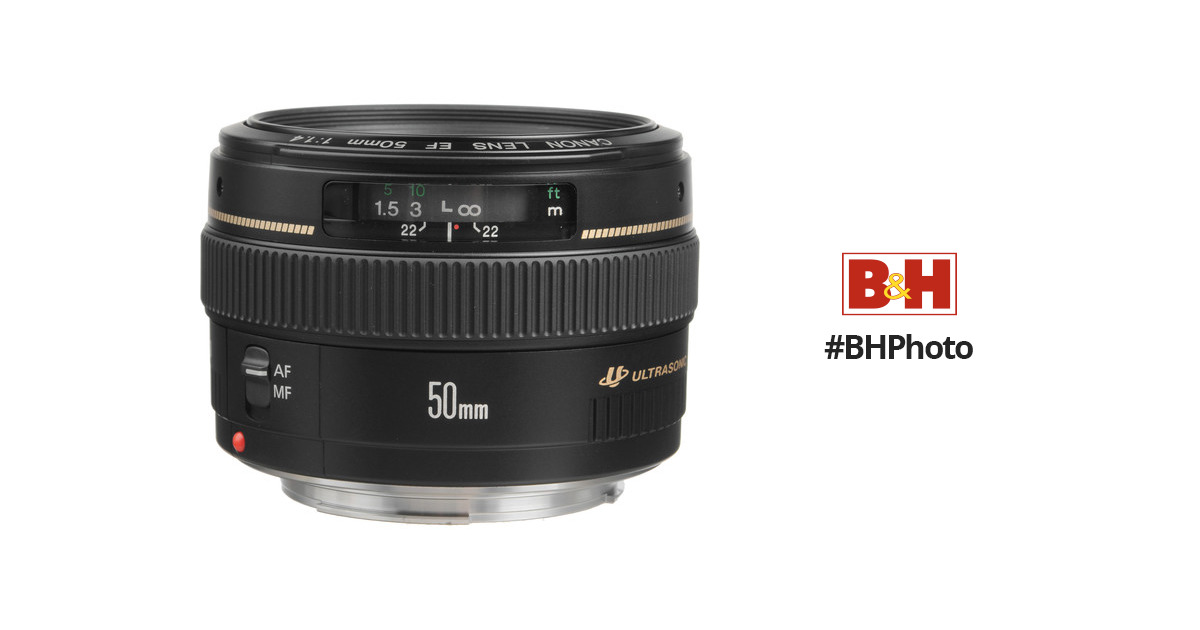 Canon EF 50mm f/1.4 USM Lens 2515A003 B&H Photo Video