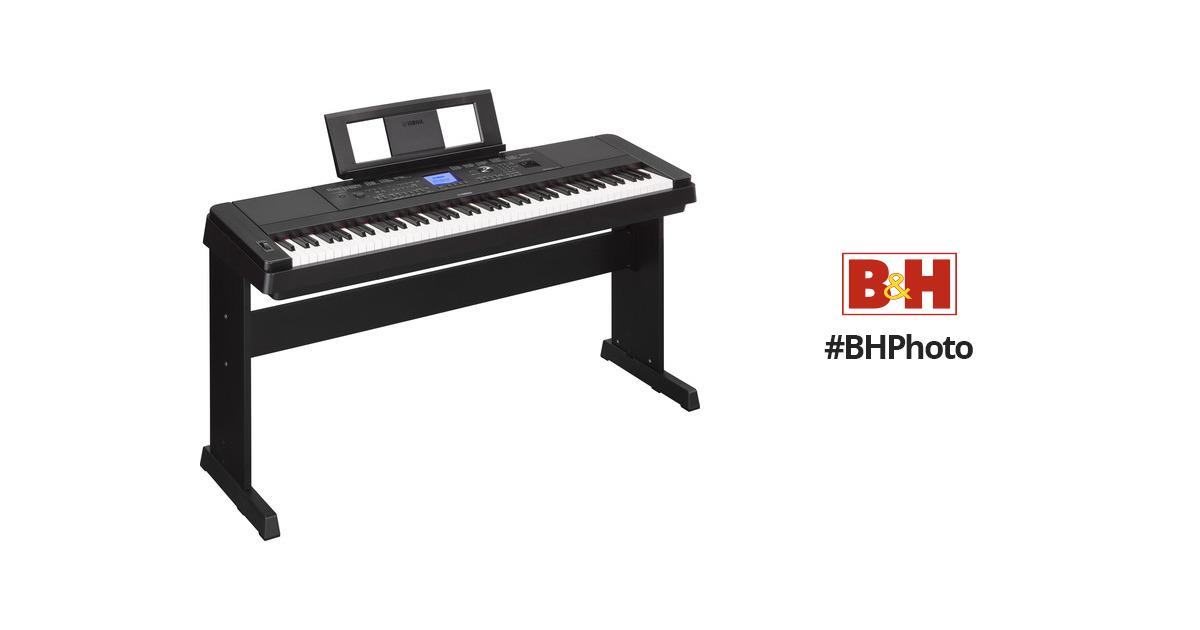 yamaha dgx 660 portable grand digital piano black dgx660b b h. Black Bedroom Furniture Sets. Home Design Ideas