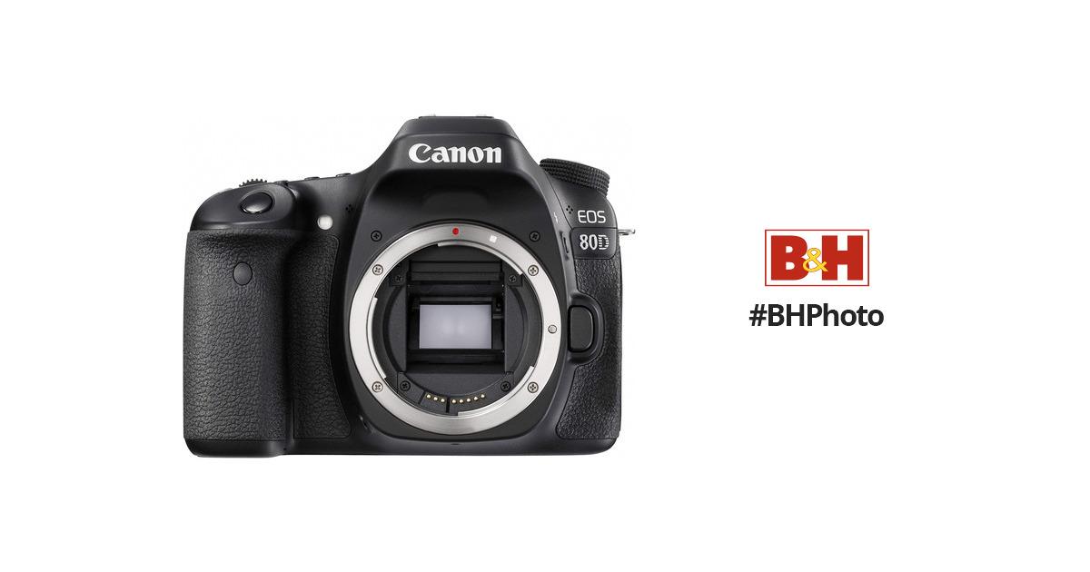 Canon 80D EOS DSLR Camera (80D Camera Body) 1263C004 B&H Photo
