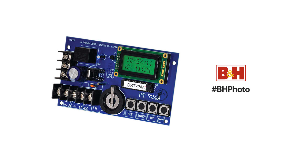 365 Day 24 Hour Annual Event Altronix PT724A  Timer LCD Display, 1 Channel