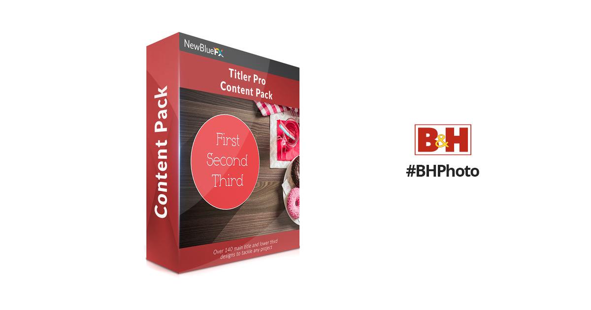 NewBlueFX Titler Pro Content Pack (Download)