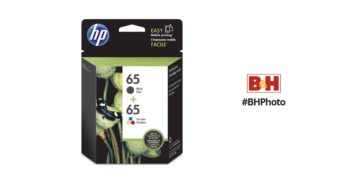 HP 65 Black & Tri-Color Ink Cartridge Set T0A36AN#140 B&H