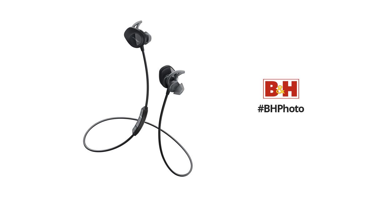 57be63ee83a Bose SoundSport Wireless In-Ear Headphones (Black) 761529-0010