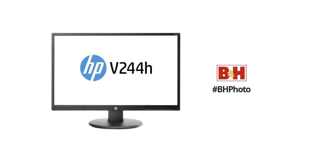 hp v244h 23 8 u0026quot  16 9 lcd monitor  smart buy  w1y58a6 aba b u0026h