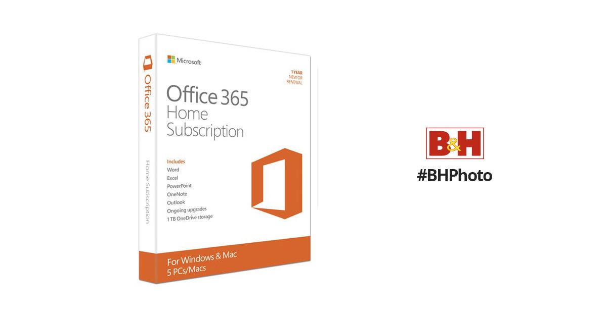 Microsoft Office 365 Home 6GQ-00643 B&H Photo Video