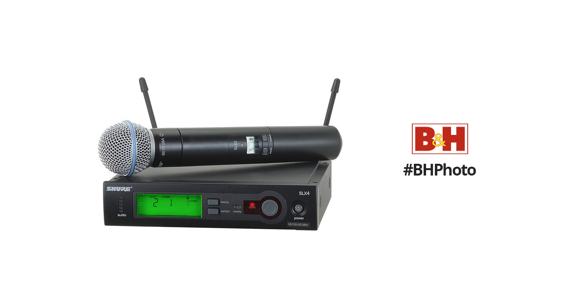 shure slx series wireless microphone system slx24 beta58 h19 b h. Black Bedroom Furniture Sets. Home Design Ideas