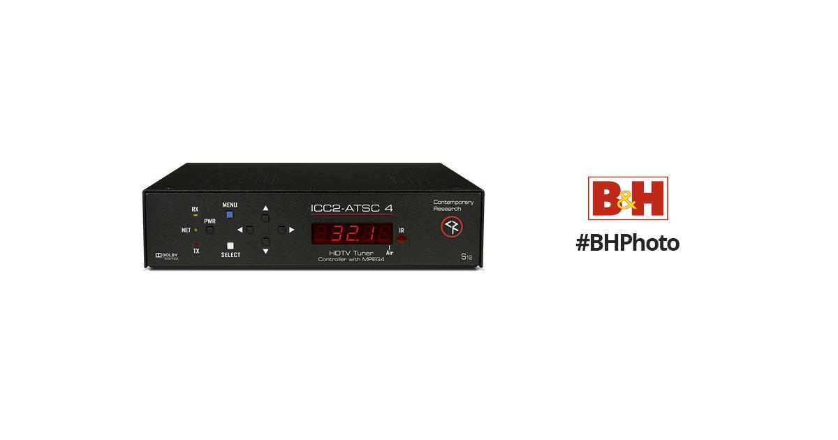 NO REMOTE CONTEMPORARY RESEARCH PROFESSIONAL 232-ATSC-MEG4 HD TUNER