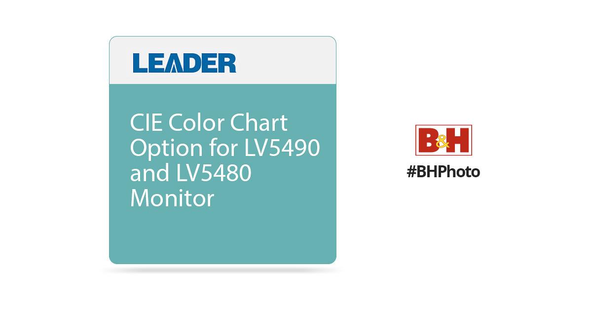 Leader Cie Color Chart Option For Lv5490 And Lv5480 Lv5490ser05