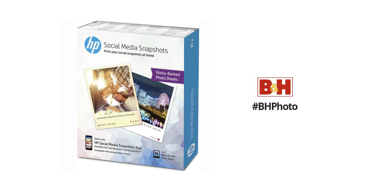 Hp Social Media Snapshots Removable Sticky Photo Paper K6b83a