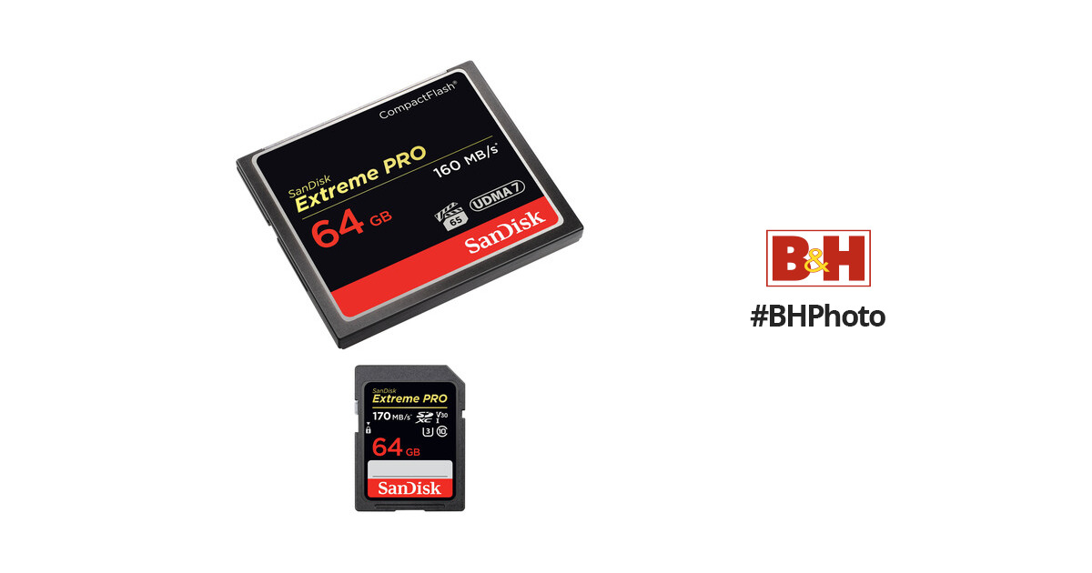 SanDisk 64GB Extreme PRO CompactFlash 64GB Extreme PRO BH