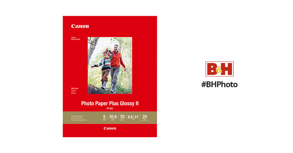 Canon Pp 301 Photo Paper Plus Glossy Ii 1432c003 Bh Photo Video