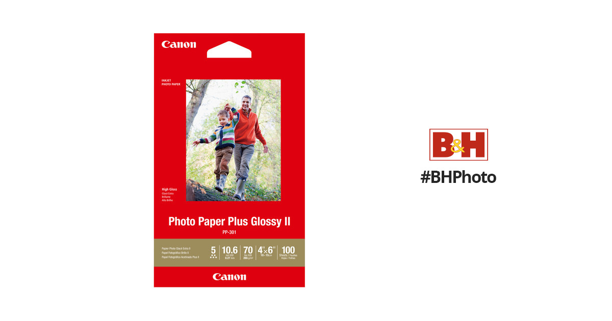 Canon Pp 301 Photo Paper Plus Glossy Ii 1432c006 Bh Photo Video