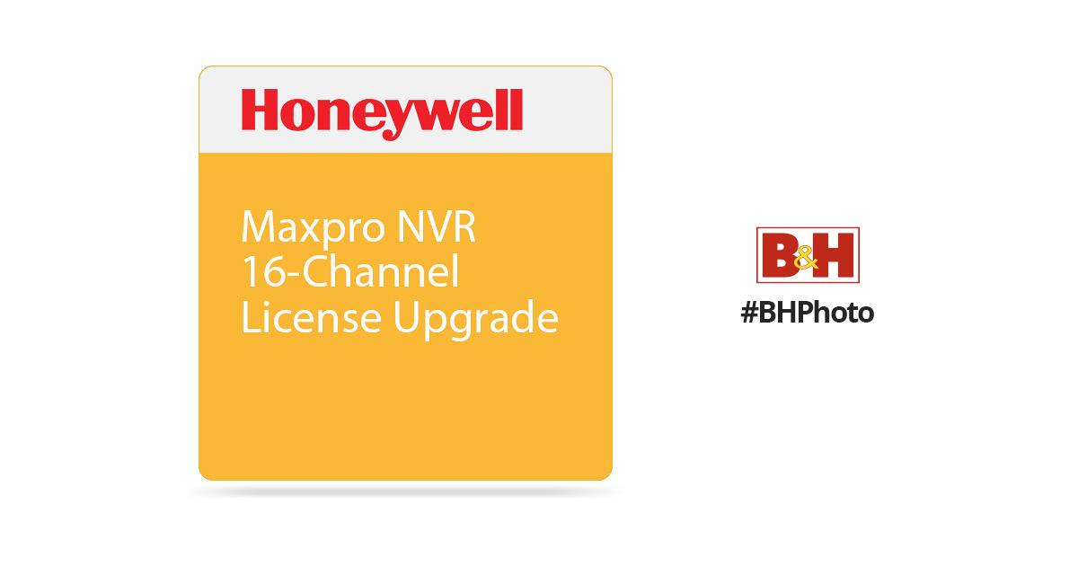 Honeywell Maxpro NVR 16-Channel License Upgrade MPNVRSW16UP B&H