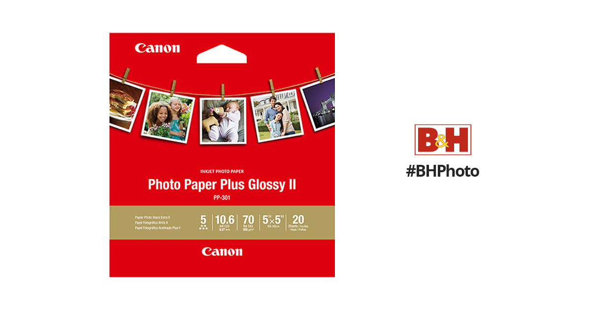Canon Photo Paper Plus Glossy Ii 5 X 5 1432c012 Bh