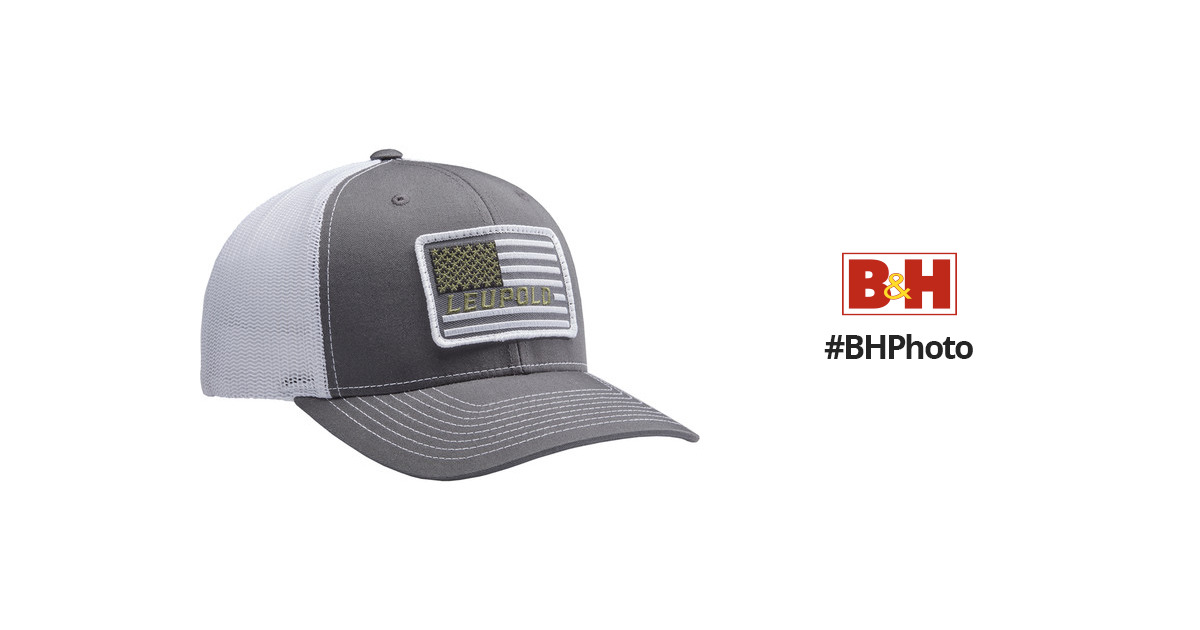 03314d17 Leupold #112 Flag Patch Trucker Hat 172603 B&H Photo Video