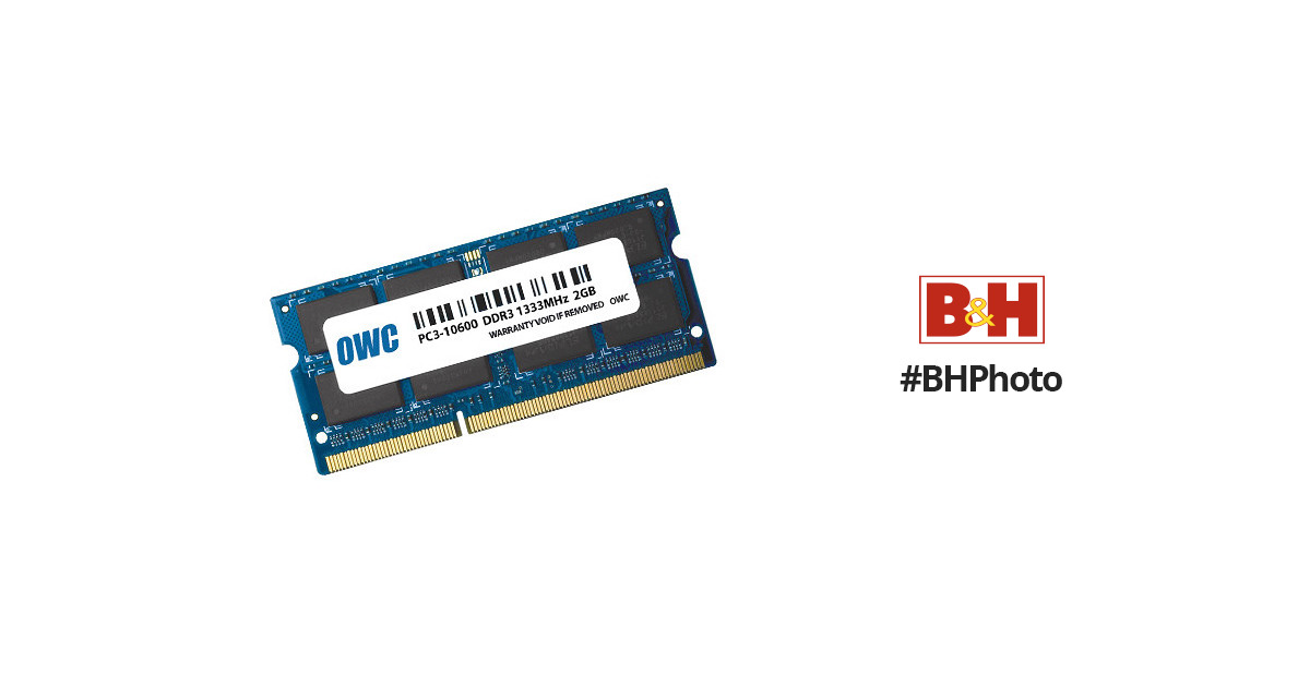 2 X 2Gb PC3-10600 DDR3-1333MHz SO-DIMM Memory OWC1333DDR3S2GB OWC 4GB