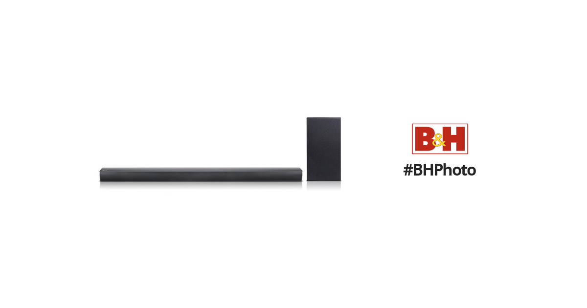 lg sj4y s 300w 2 1 channel soundbar system sj4y s b h photo. Black Bedroom Furniture Sets. Home Design Ideas
