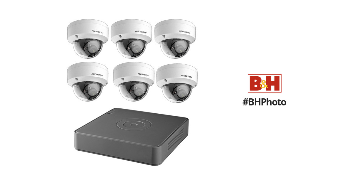 6527b24dc3faa Hikvision TurboHD 8-Channel 1080p DVR with 2TB HDD and 6 1080p Outdoor Dome Cameras  Kit