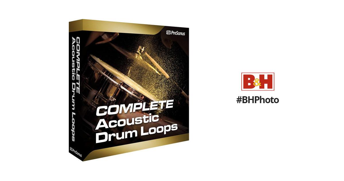 PreSonus Complete Acoustic Drum Loops ACOUSTIC DRUM LOOPS B&H