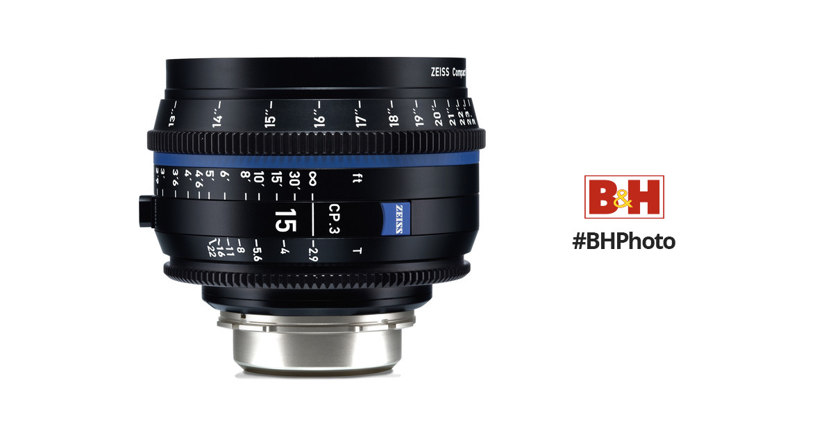 Zeiss Cp 3 15mm T2 9 Compact Prime Lens 2189 454 B Amp H Photo
