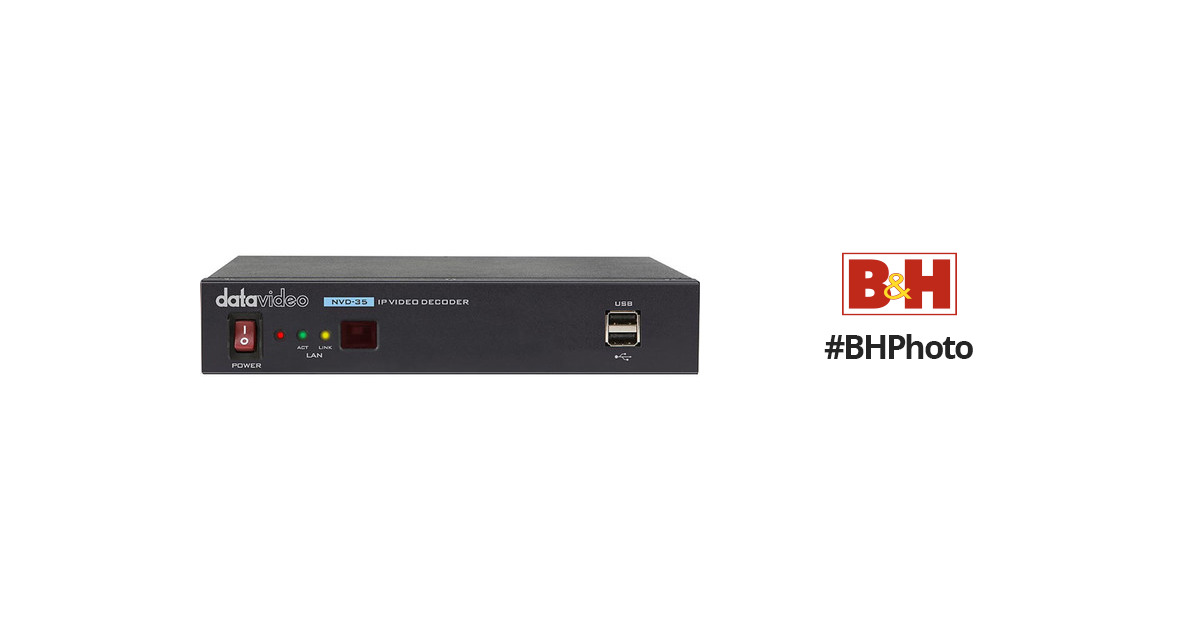 DatavideoIP Video Decoder with SDI Output