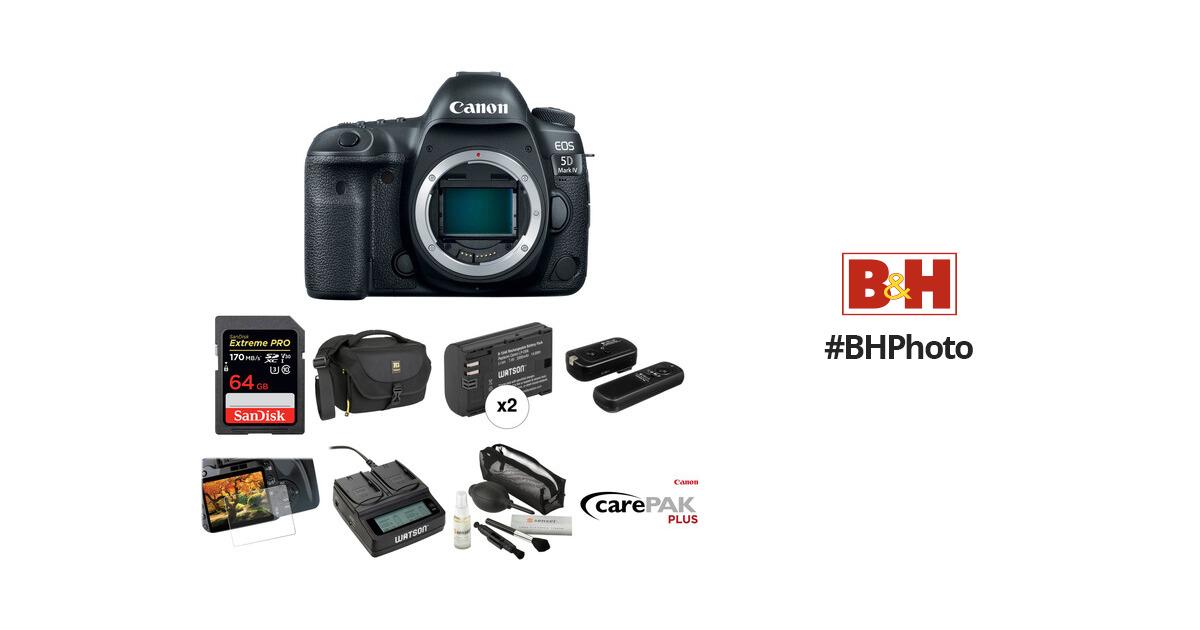 Canon EOS 5D Mark IV DSLR Camera Body Deluxe Kit B&H Photo Video