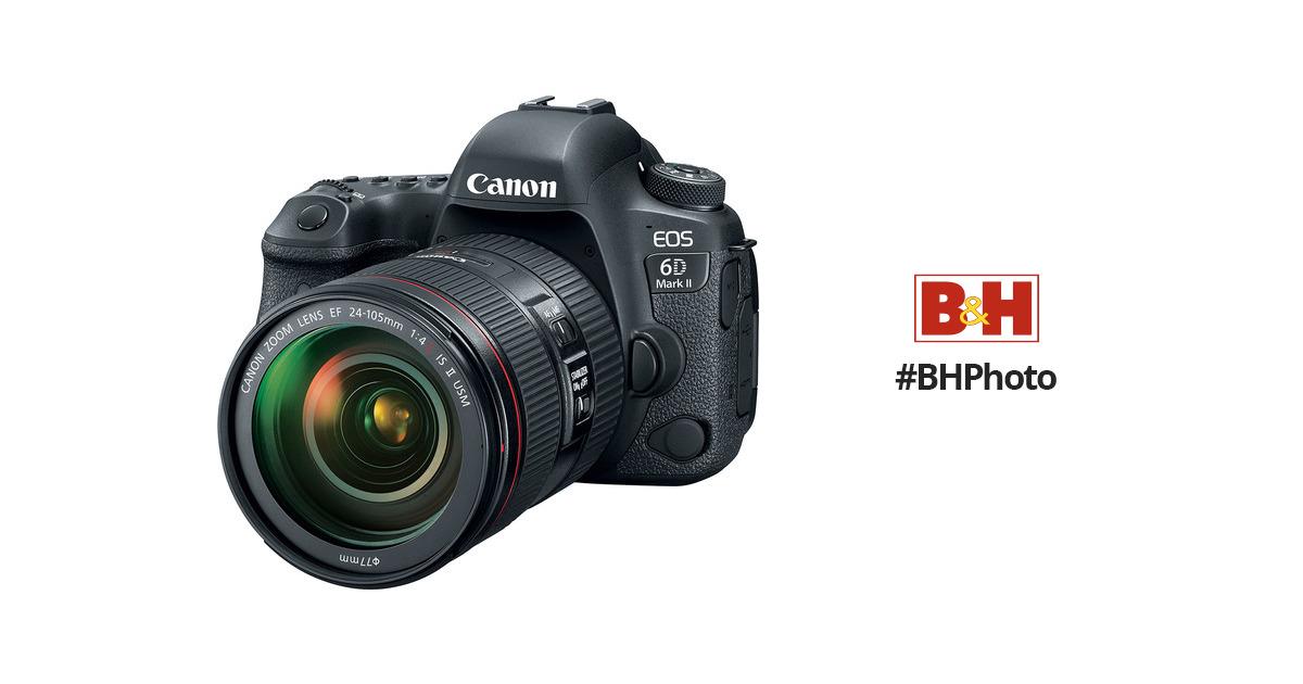 Canon EOS 6D Mark II DSLR Camera with 24-105mm f/4L II 1897C009