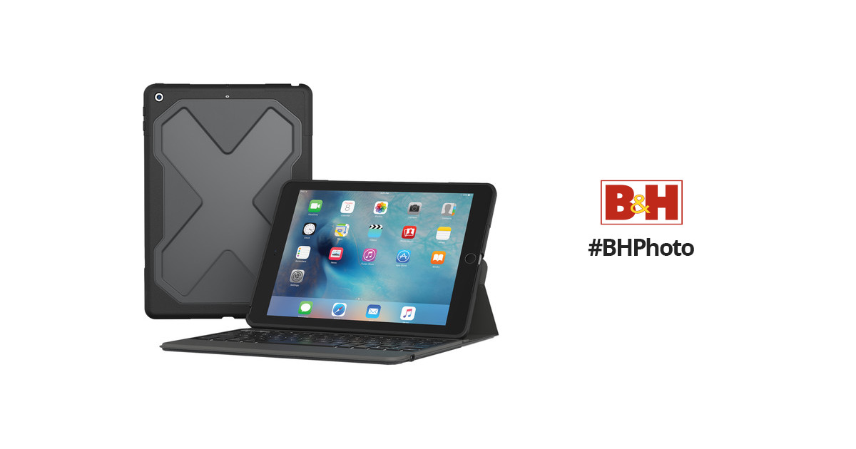 Zagg Rugged Messenger Keyboard Case For Ipad 9 7 Quot I10rmkbb0