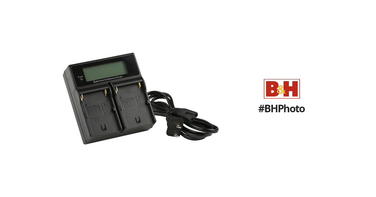 Black Ikan Dual Charger for Sony BP-U Style Battery ICH-KDUAL-SU