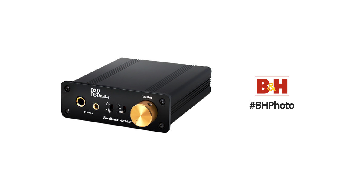 AUDINST HUD-DX1 Audiophile USB Audio DAC /& Headphone Amp BLACK