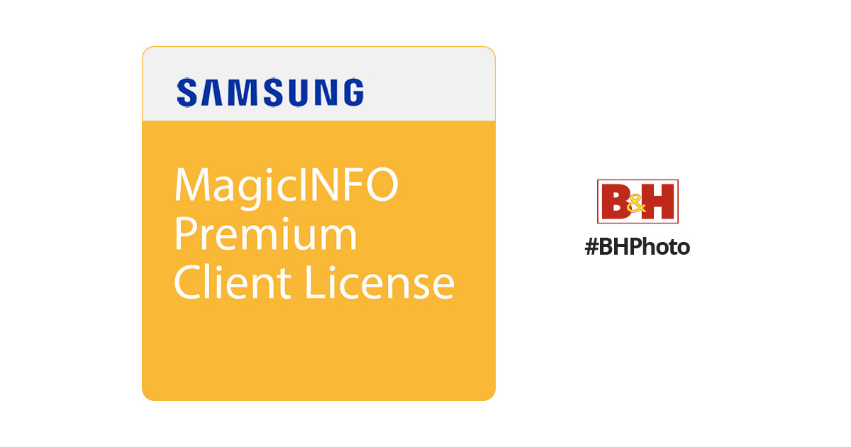 Samsung MagicInfo Premium Client License for Samsung BW-MIP10PN
