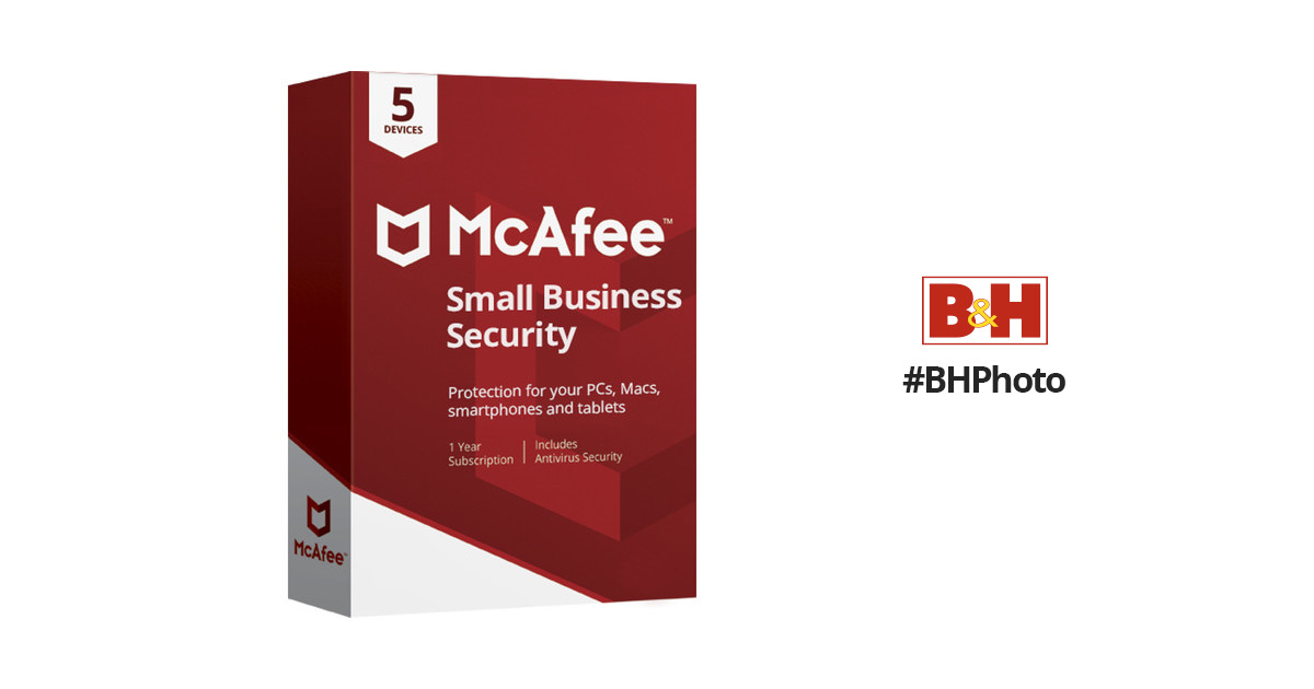Mcafee Small Business Security 2018 Msb00enr5rdd B Amp H Photo