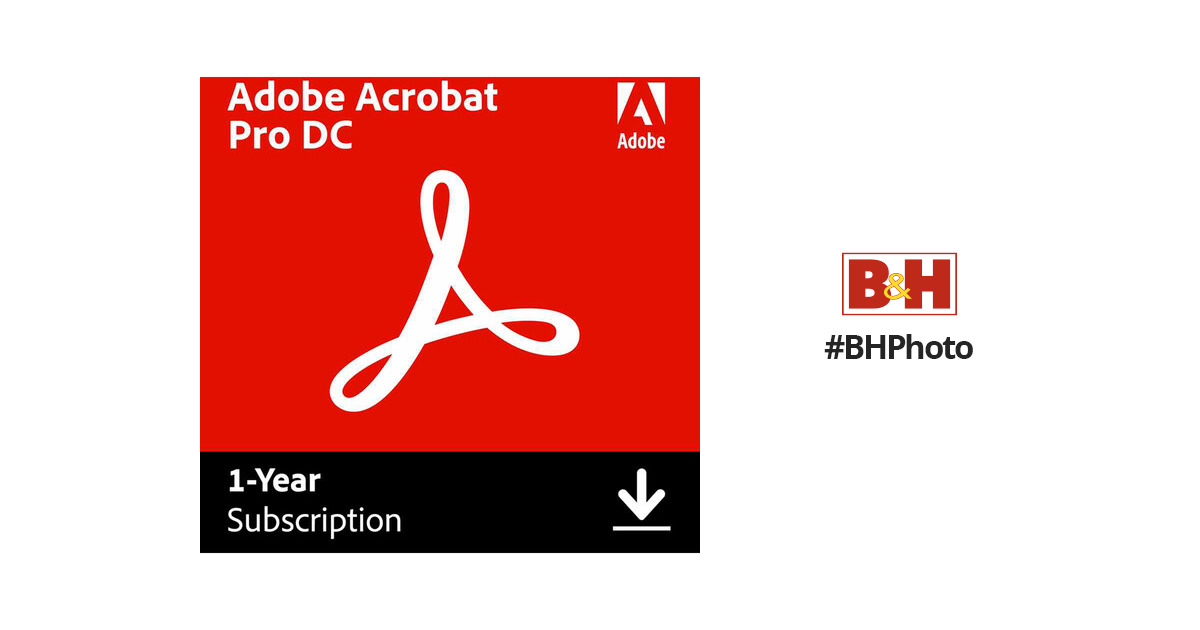 Adobe Acrobat Pro DC (Download, 1-Year Subscription)