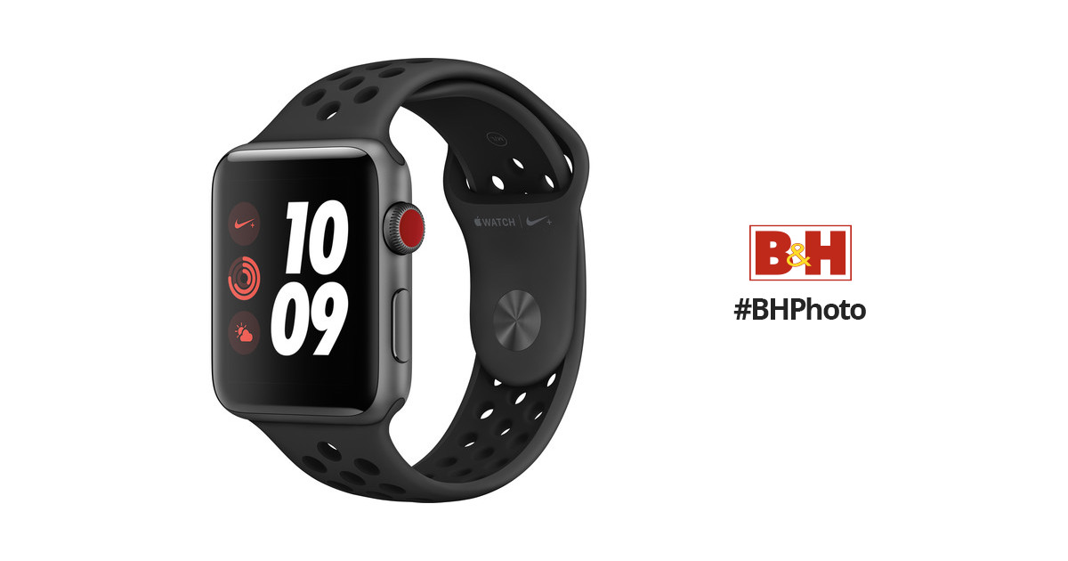apple watch nike series 3 42mm smartwatch mqld2ll a b h photo. Black Bedroom Furniture Sets. Home Design Ideas