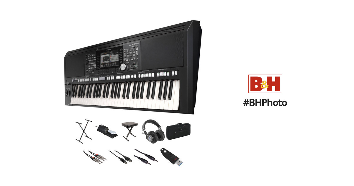 yamaha psr s975 value kit with stand bench cables case b h. Black Bedroom Furniture Sets. Home Design Ideas