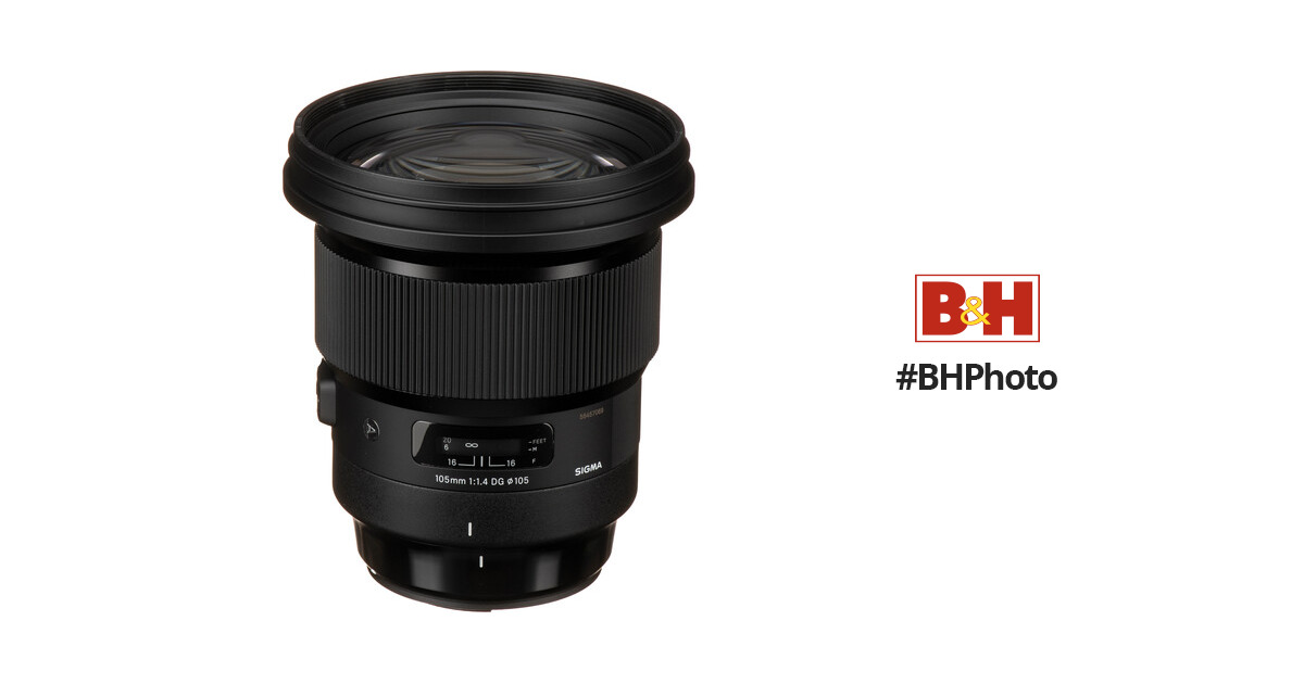 Sigma 105mm f/1.4 DG HSM Art Lens for Canon EF 259954 B&H Photo