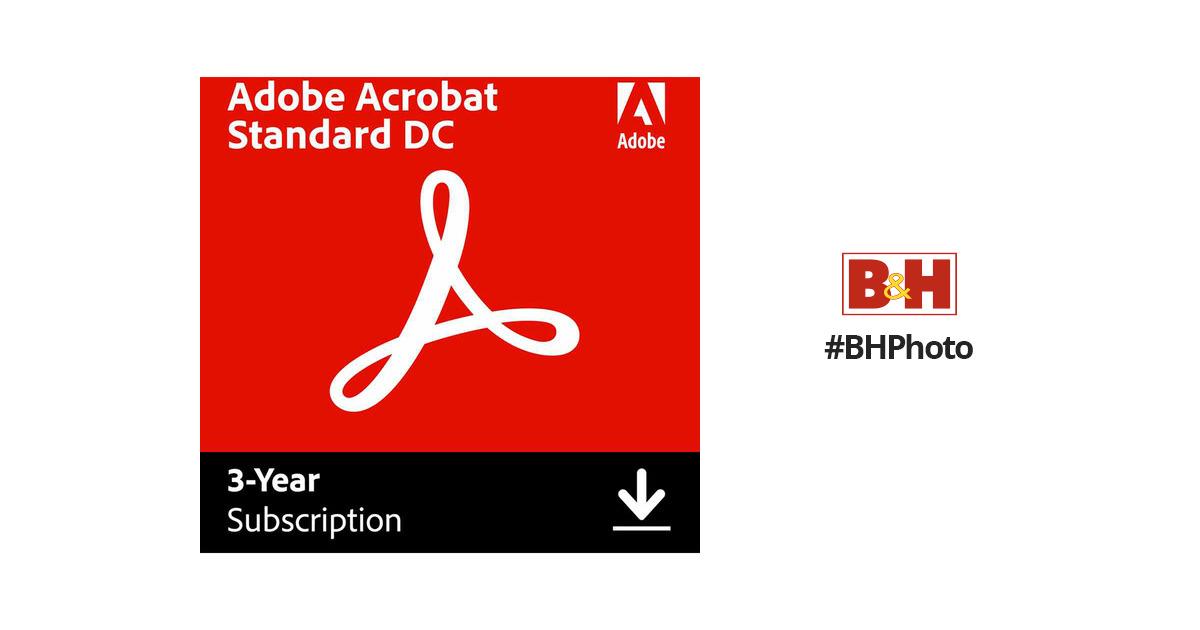 Adobe Acrobat Standard Dc 65290597 B Amp H Photo Video