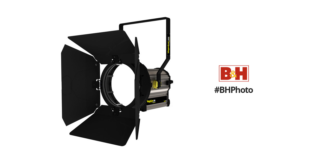 """Fluotec VegaLux 300 Tungsten 10"""" StudioLED Fresnel with Stand Mount Yoke"""