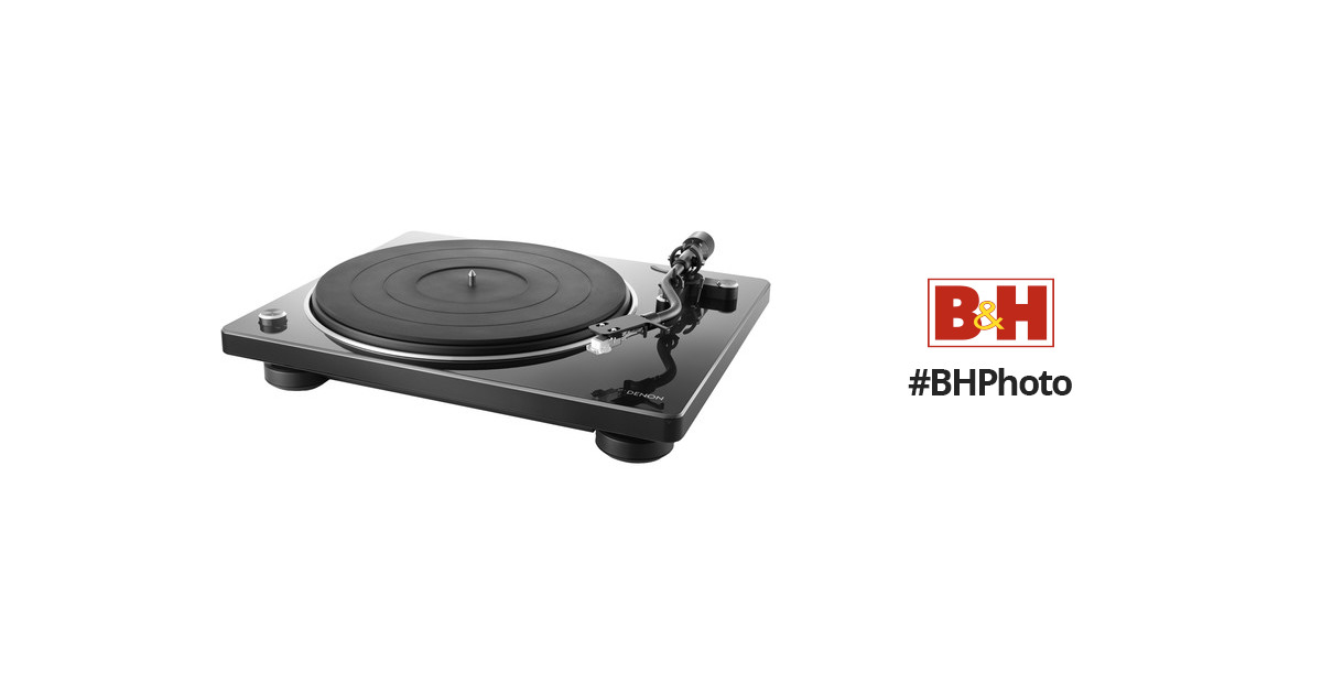 Supports 33 1//3 Specially Designed Curved Tonearm Modern Looks Denon DP-400 Semi-Automatic Analog Turntable with Speed Auto Sensor 78 RPM Vintage Speeds 45 Superior Audio