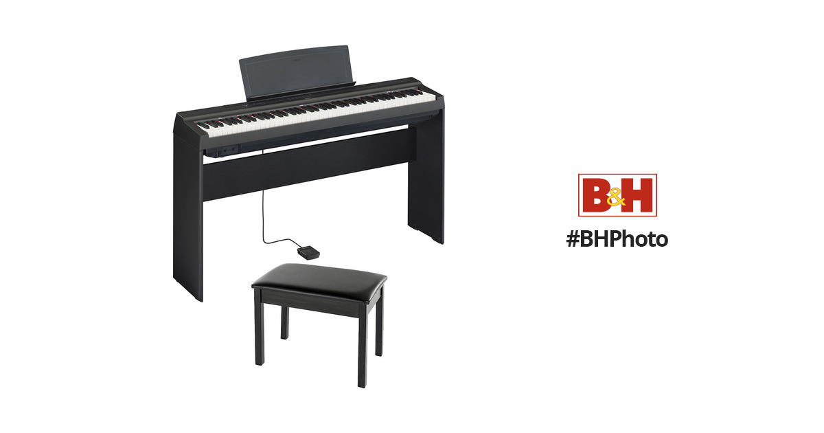 Yamaha P 125 Digital Piano Bundle With Stand And Bench P125blb