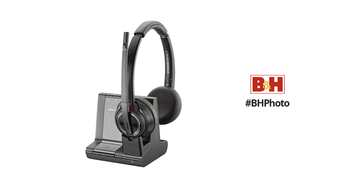 3ace74a6128 Plantronics Savi 8220 Wireless DECT Headset System 207325-01 B&H