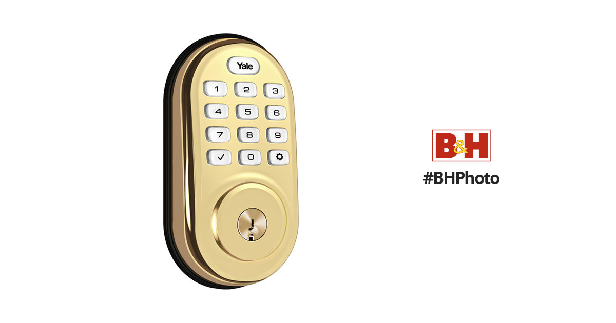 Yale Real Living Assure Lock Push Button Deadbolt (Polished Brass) with  Connected by August