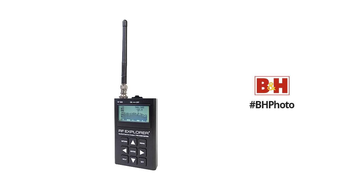 RF Venue RF Explorer Pro Audio Edition Handheld RF Spectrum Analyzer for  Wireless Audio Systems