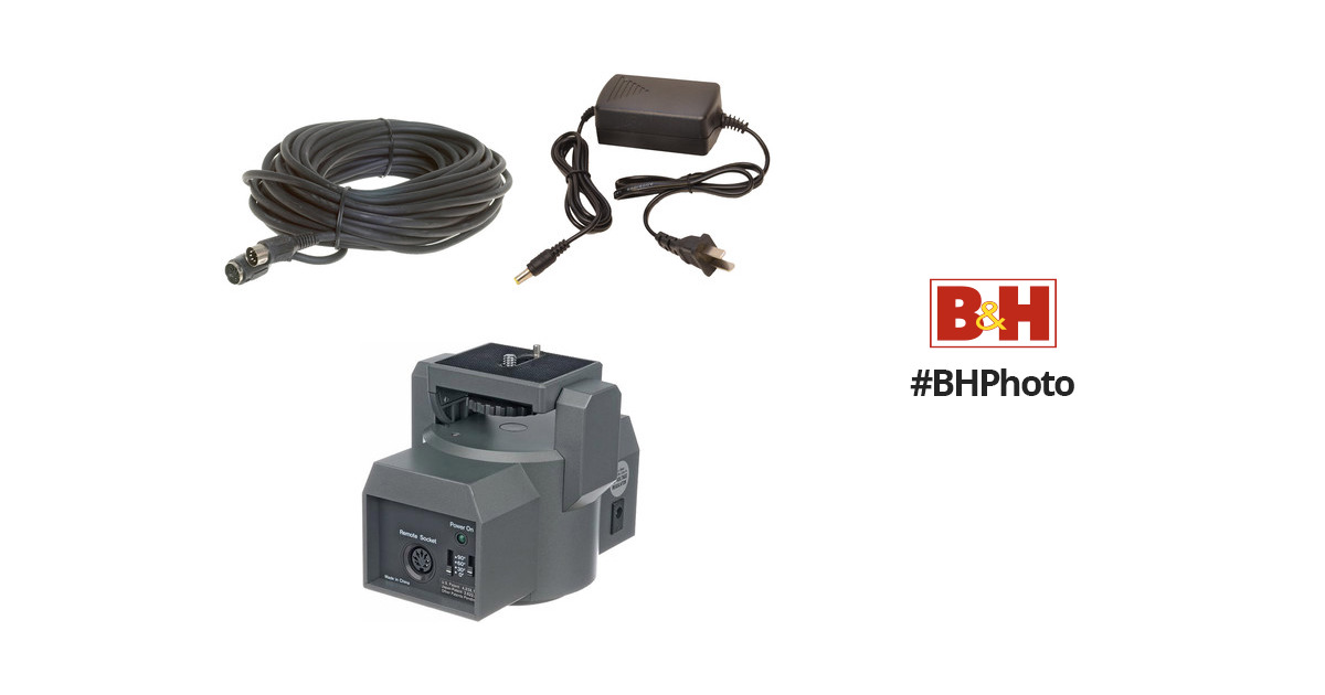 Bescor MP1XL Motorized Pan and Tilt Head Kit with Power Supply and 50 Remote Extension