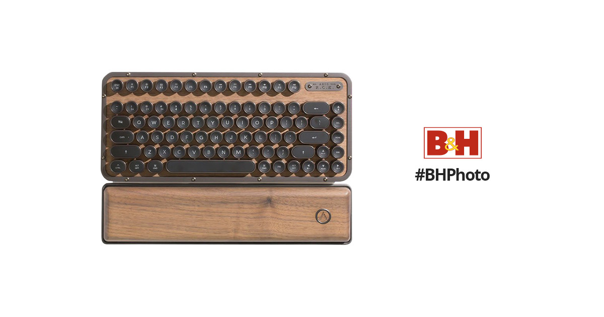 45107d1a677 AZIO Elwood Retro Compact Keyboard MK-RCK-W-01-US B&H Photo Video