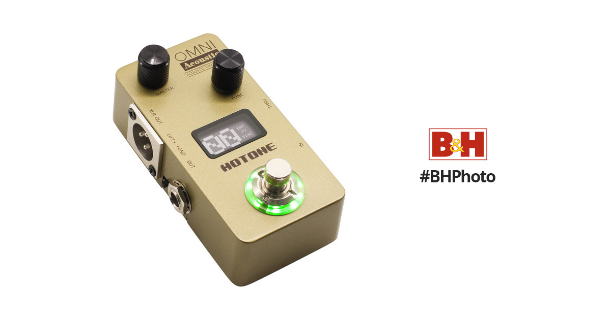 hotone omni ac acoustic simulator pedal for electric guitar. Black Bedroom Furniture Sets. Home Design Ideas