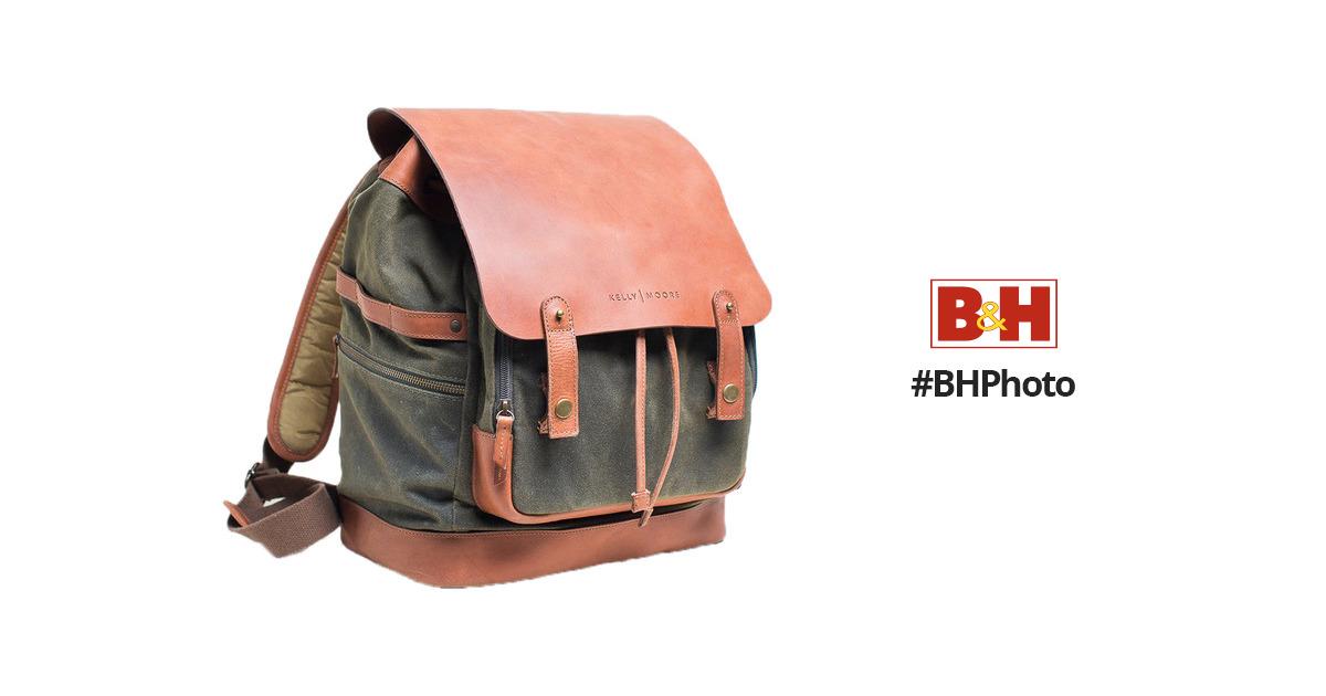 fbf67dcc8 Kelly Moore Bag Pilot 2.0 Canvas and Full-Grain KMB-PILOT-OLIVM