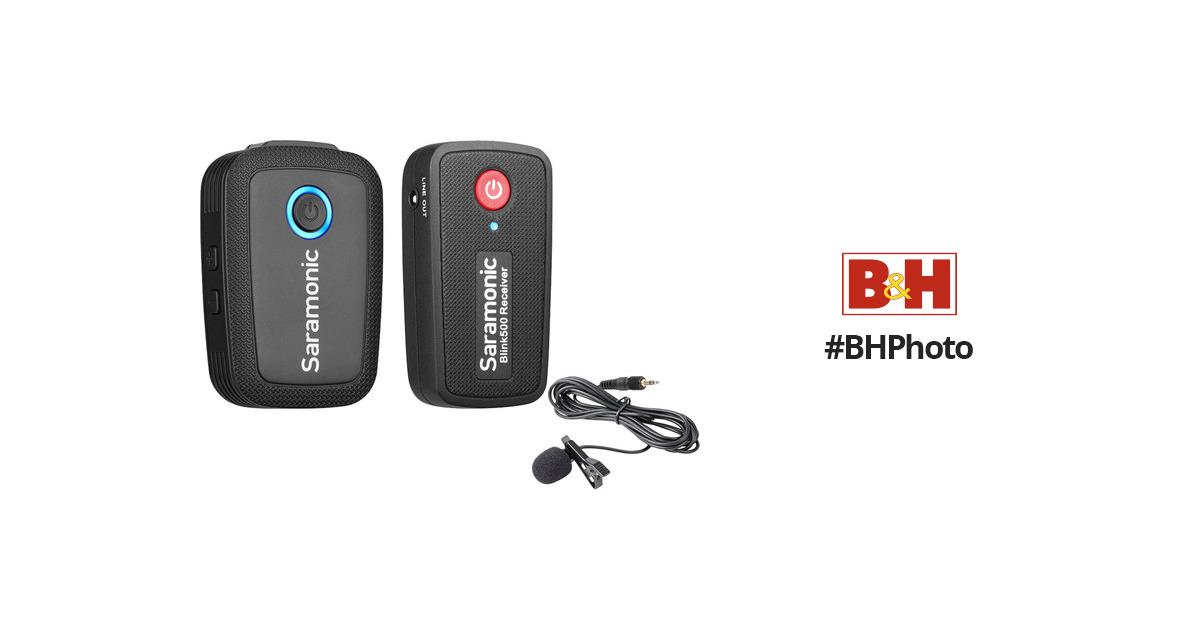 Saramonic Blink 500 B1 Digital Camera-Mount Wireless Omni Lavalier  Microphone System (2 4 GHz)