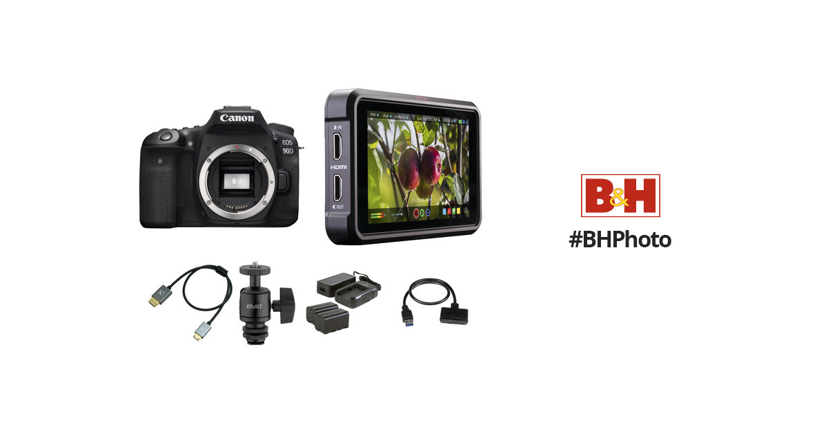 Canon EOS 90D DSLR Camera Cine Kit